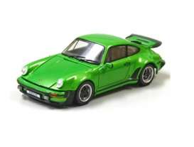Kyosho - Porsche  - kyo5524G : 1976 Porsche 911 Turbo with openable front Bonnet & Rear Lid, green