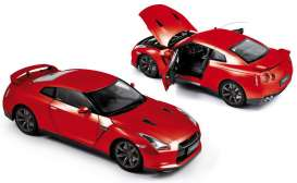 Norev - Nissan  - nor188051 : 2008 Nissan Skyline GTR R35 Left hand Drive, red