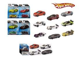 Hotwheels - Assortment/ Mix  - hwmvR4023-995A~18 : Speed Machines assortment 995A. Mix box with 18 different 1/64 road cars from today.