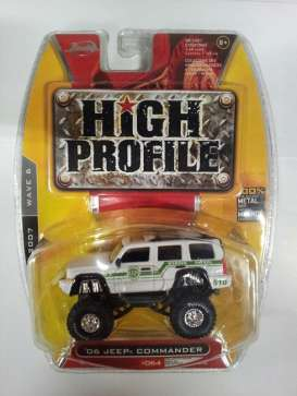 Jada Toys - Jeep  - jada91165w^1 : 2006 Jeep Commander *Border Patrol* United States, white/green