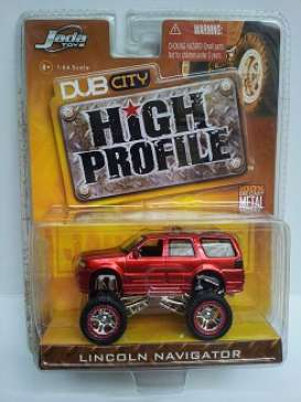 Jada Toys - Lincoln  - jada12038r^1 : Lincoln Navigator *Dub City*, red