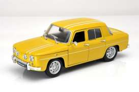 Welly - Renault  - welly24015y : 1964 Renault 8 Gordini, yellow/white