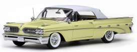 SunStar - Pontiac  - sun5191*1 : 1959 Pontiac Bonneville closed convertible, palomar yellow with white softtop
