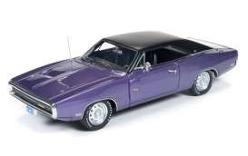 Auto World - Dodge  - AWR1141 : 1970 Dodge Charger *Resin Series*, purple