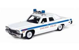 Auto World - Dodge  - AWR1142 : 1974 Dodge Monaco Chicago Police *Resin Series*, white/blue
