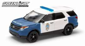 GreenLight - Ford  - gl42710A : 2014 Ford Police Interceptor *Utility Raleigh North Carolina*, blue/white