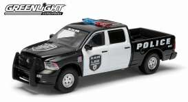 GreenLight - Dodge  - gl42710F : 2014 Dodge Ram *Ram Law* show truck, black/white