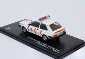 Triple9 Collection - Volvo  - T9-43058 : 1982 Volvo 343 1400 *Politie Wieringerwerf*, white/orange with original long bumpers.