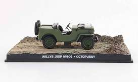 Magazine Models - Willys  - magJBWilly : 1953 Willy's Jeep James Bond *Octopussy*, green