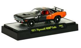 M2 Machines - Plymouth  - M2-31600HM01-3 : 50 Years 426 HEMI release HM01; 1971 Plymouth HEMI CUDA  - Black w/Hemi Orange Billboard