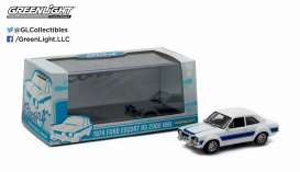 GreenLight - Ford  - gl86065 : 1974 Ford Escort RS 2000 MKI, white with blue stripes.