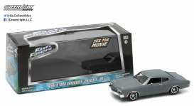 GreenLight - Chevrolet  - gl86227 : 1970 Chevrolet Chevelle SS Fast and Furious (IV 2009), Primer grey with black stripes