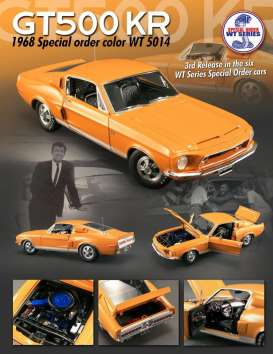 Acme Diecast - Shelby  - acme1801807 : 1968 Shelby GT500KR with paint code WT 5014, orange