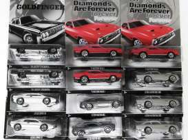 Hotwheels - Assortment/ Mix  - hwmvCGB72~10 : 1/64 James Bond assortment. Mix box of 10