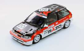 Triple9 Collection - Honda  - T9-1800106 : 1989 Honda Civic EF3 #20 Macau GP *Razo Trampio* *Diecast Sealed Body Series*, black/white/red