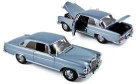 Norev - Mercedes  - nor183532 : 1969 Mercedes 280 SE Coupe, light blue metallic