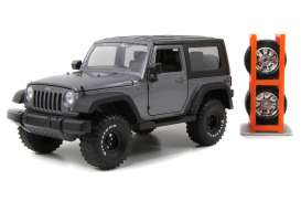 Jada Toys - Jeep  - jada54027W6-4 : 2007 Jeep Wrangler *Just Trucks* , grey
