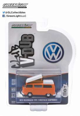 GreenLight - Volkswagen  - gl29790E : 1973 VW Type 2 Westfalia Campmobile *Club Vee-Dub series 1*, bright orange
