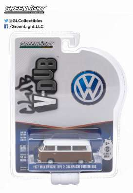 GreenLight - Volkswagen  - gl29790F : 1977 VW Type 2 Champagne Edition Bus *Club Vee-Dub series 1*, agata