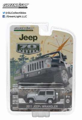 GreenLight - Jeep  - gl27770F : 2011 Jeep Wrangler *Anniversary Collection Series 2*, bright silver metallic