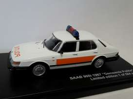 Triple9 Collection - Saab  - T9-43070 : 1987 Saab 900i Gemeente Politie Culemborg, white/red
