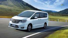 Kyosho - Nissan  - kyo3871bmw : Nissan Elgrand Highway star, bluemoon white pearl