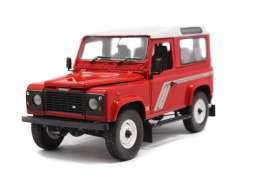 Universal Hobbies - Land Rover  - UH3880 : 1/18 Land Rover Defender 90, red/white