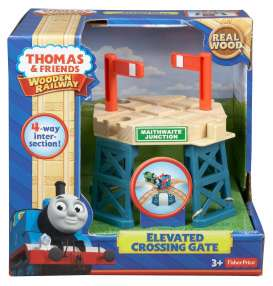 Mattel Thomas and Friends - Thomas and Friends Kids - MatBDG64 : Thomas and Friends Wooden Railway *Elevated Crossing Gate* 4-way intersection.