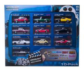 GreenLight - Assortment/ Mix  - gl71710*3 : Hollywood 10-car Collectors box series 1.
