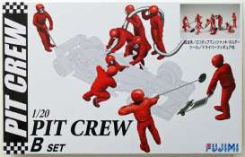Fujimi - Figures diorama - fuji112459 : 1/20 Pit Crew set B (9 figures + extra equipment). Great set to make a F1 diorama, plastic modelkit