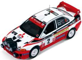 IXO Models - Mitsubishi  - ixram522 : 1998 Mitsubishi Carisma GT winner Rally GB Burns/Reid, white/red