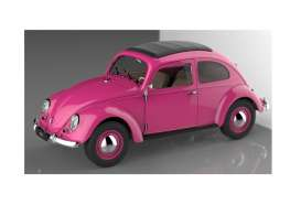 Welly - Volkswagen  - welly18040pk : 1950 Volkswagen Classic T1 Beetle, pink