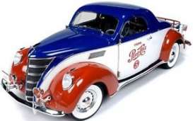 Auto World - Lincoln  - AW205 : 1937 Lincoln Zephyr coupe Pepsi, red/white/blue