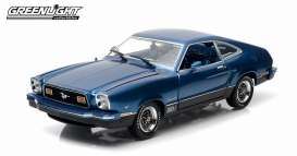 GreenLight - Ford  - gl12868*1 : 1976 Ford Mustang II Mach I, blue/black