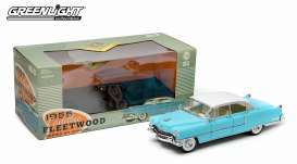 GreenLight - Cadillac  - gl12924*2 : 1955 Cadillac Fleetwood series 60, blue with white roof