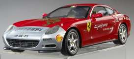 Hotwheels Elite - Ferrari  - hwmvL7127*2 : Ferrari 612 Scaglietti Tour de China 2005 *Elite Touring Serie*, red/silver