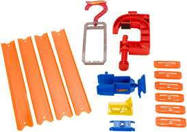 Mattel Hotwheels - Kids Hotwheels - MatBMM34-CFG38 : Great Hotwheels Playzone Track Builder Gravity Pack. Incl. 2 Table Clamp, 1 Hanger and 6 Straights.