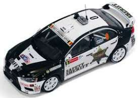 IXO Models - Mitsubishi  - ixram533 : 2011 Mitsubishi Lancer Evo X Safety Sherrif #0 Rally Ypres, black/white