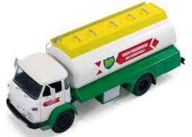 IXO Models - Saviem  - ixtru016 : 1974 Saviem SM 8 BP Fuel Transporter, white/green/yellow
