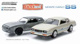 GreenLight - Chevrolet  - gl29829 : 1981-84 Chevrolet Monte Carlo *Firstcut Series* 2-pack. One Firstcut car and one decorated car.
