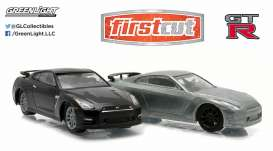 GreenLight - Nissan  - gl29831 : 2007-14 Nissan Skyline GT-R R35 *Firstcut Series* 2-pack. One Firstcut car and one decorated car.