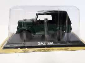 Magazine Models - GAZ  - maglcGaz69A : Gaz 69A *Legendary cars* green
