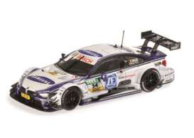 Minichamps - BMW  - mc410142424 : 2014 BMW M4 (F82) BMW Team RMG DTM Maxime Martin, white/blue