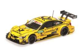 Minichamps - BMW  - mc410152416 : 2015 BMW M4 (F82) BMW Team MTEK DTM Timo Glock, yellow