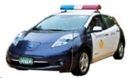 J Collection - Nissan  - jc278 : 2012 Nissan Leaf PTaiChung Police car
