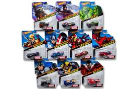 Hotwheels - Assortment/ Mix  - hwmvBDM71-959J~12 : Marvel Characters Cars assortment. Mix box of 12.
