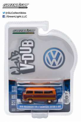 GreenLight - Volkswagen  - gl29820F : 1978 Volkswagen T2 Champaign Edition II *Club Vee-Dub series 2*, 2-tone with stripes