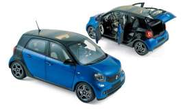 Norev - Smart  - nor183435 : 2015 Smart Forfour, black/blue