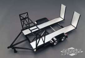 GMP - diorama Accessoires - gmp18820 : 1/18 Diecast High Quality Tandem Trailer with Tire Rack, black