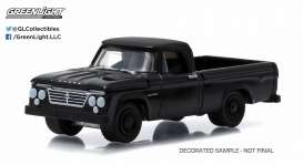 GreenLight - Dodge  - gl27790A : 1963 Dodge D-100 pick-up *Black Bandit Series 13*, black